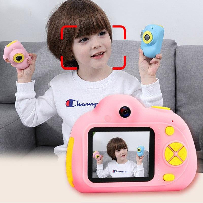 Haute qualité Portable Silicone 2.0 pouces USB 2.0 double caméra numérique caméra caméscopes pour enfants en plein air voyage