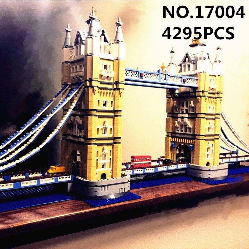 Lepin Creator Expert 17004 4295PCS London Tower Bridge Sets Compatible 10214 Model Building Kits Blocks Bricks Toys For Children все цены