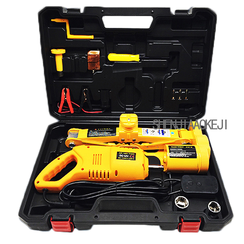 12V Electric Car Jack And Wrench Hydraulic Quick Change The Artifact Portable Hardware Toolbox 100W 1pc