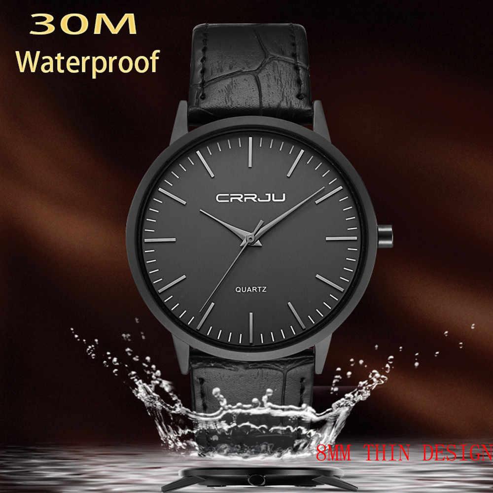 Homem do Relógio de Pulso De Medidor de 30 Lembrança Presente de Aniversário de Quartzo Fino homem relógios mens assistir À Prova D' Água magro dos homens relógios de pulso