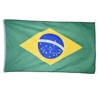 Бразильский национальный флаг 90*150 см для украшения дома Футбол игры спорта на открытом воздухе баннер Бразилия флаги