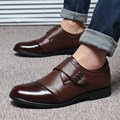 Venta caliente Del Cuero Genuino Negro Marrón Zapatos de Los Planos, Coser A Mano Los Hombres Oxfords Zapatos Hombres, Hombres de Moda de Cuero zapatos