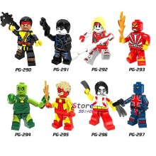 Unique Super héros DC Comics Forge Pyro Domino radioactif homme Union Jack Omega Figure blocs de construction jouets pour enfants(China)