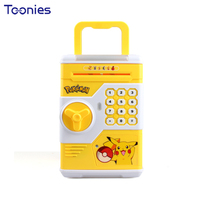 Cartoon Children Gifts Colorful Lights Collect Coin Bank Password Box Portable ATM Auto Rolling Money Saving