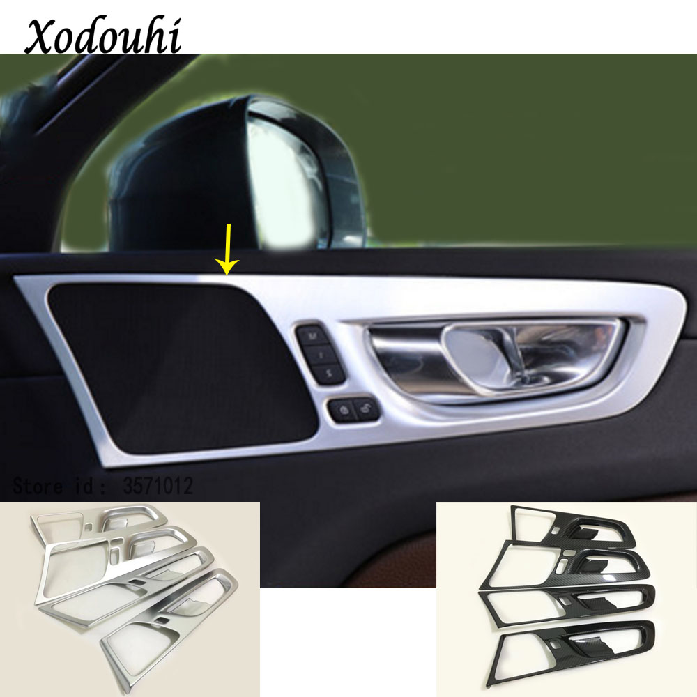 For <font><b>Volvo</b></font> <font><b>XC60</b></font> 2018 <font><b>2019</b></font> 2020 Car Styling Body Decoration Cover Stick Trim Door Inner Built Handle Bowl Frame Lamp Part Moulding image