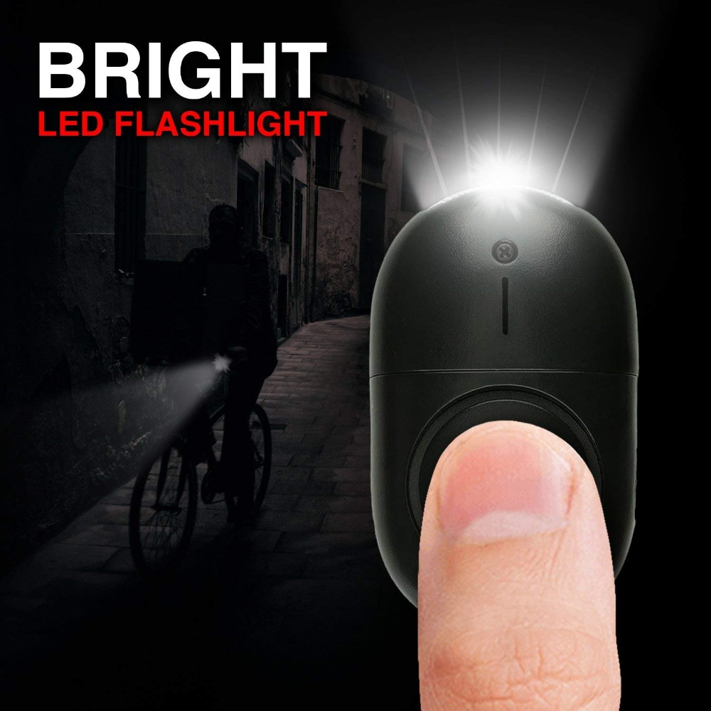 50 Pcs Personal Alarm 120-130dB Safe Sound Emergency Security Alarm Keychain LED Flashlight For Women Kids Elderly Explorer