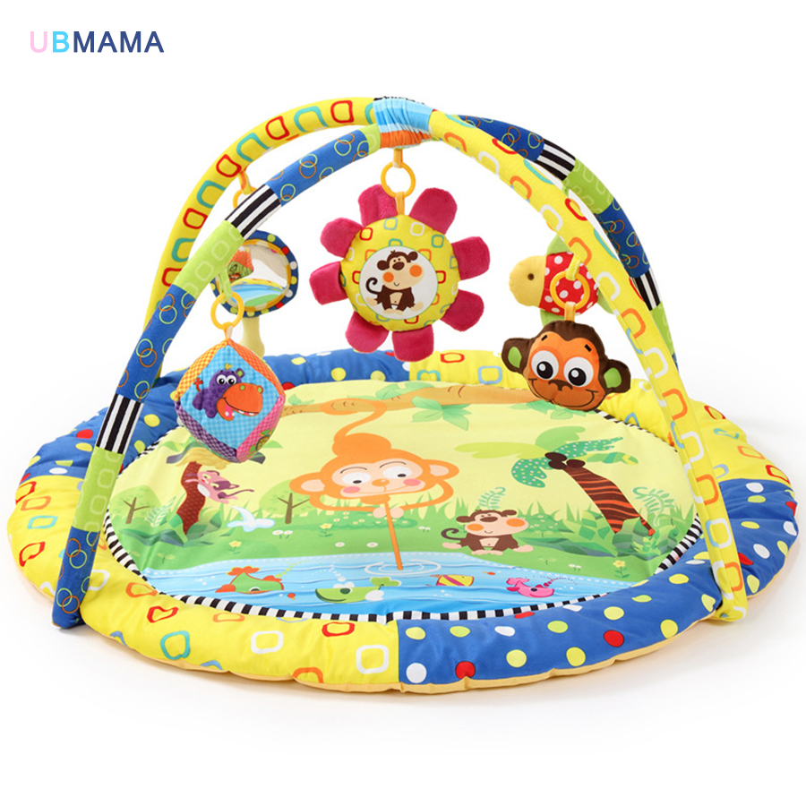 Mat Toys Soft Musical Baby Activity Toy Mat Baby Gym Educational Fitness Frame Multi-bracket Baby Toys Game Mats