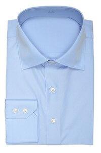 Image 4 - Col découpé à deux boutons, 100% coton, neuf couleurs, coupe cintrée de douanes, concevez votre propre chemise, offre spéciale