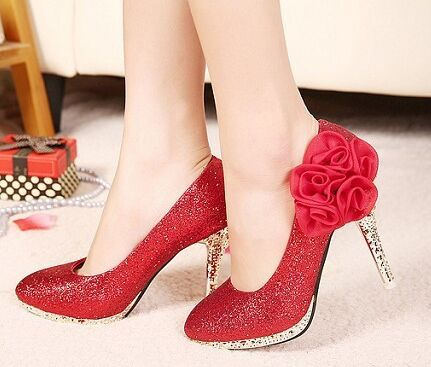2015 Fashion Damens Gold Heels ROT Bottom Wedding Bridal Glitter Glitter Bridal 9e4954
