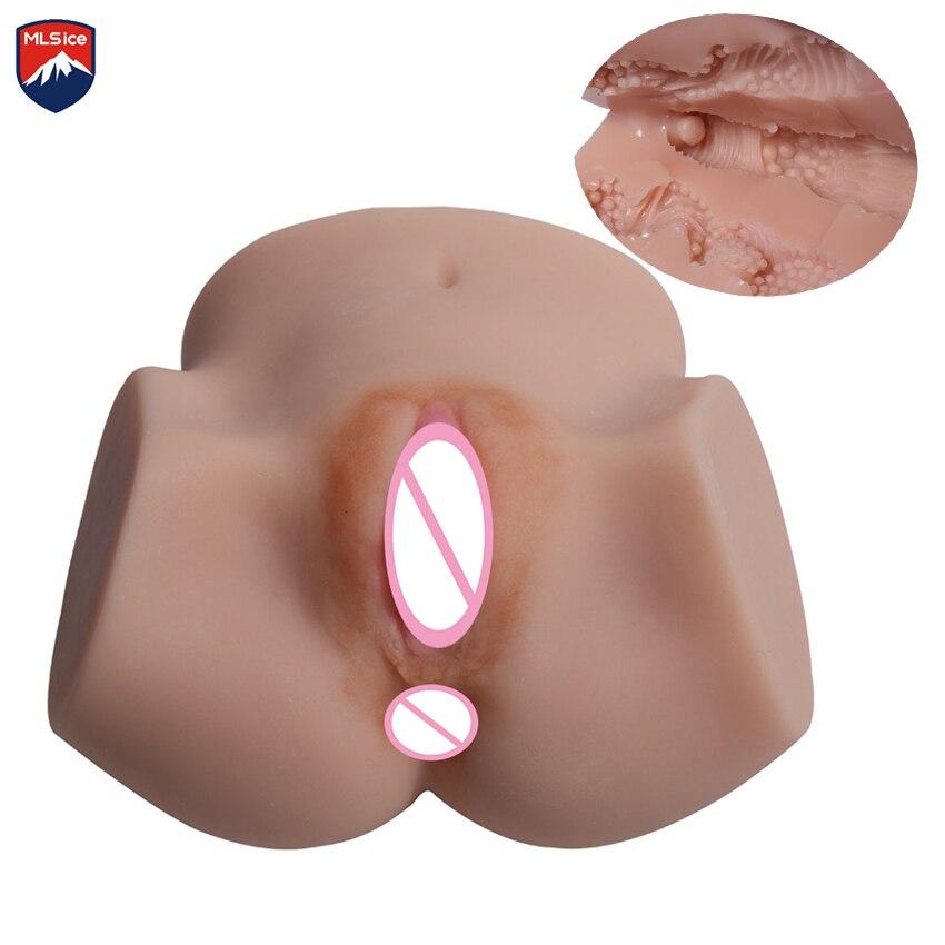 MLSice Japon Silicone Poupée Chatte Mâle Masturbateur Réaliste Poupée de Sexe Anal vagins Sexy Poupée Jouets Poupée De Sexe Gros Cul Butt pour Hommes