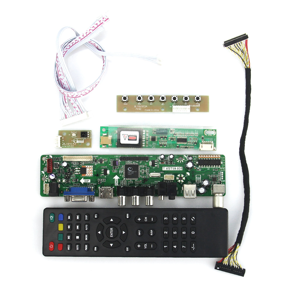T.VST59.03 LCD/LED Controller Driver Board For QD15TL04 QD15TL02  (TV+HDMI+VGA+CVBS+USB) LVDS Reuse Laptop 1280x800