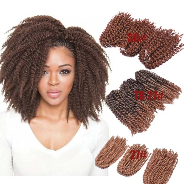 10inch 90gset Short Curly Crochet Braid Hair Freetress Ombre