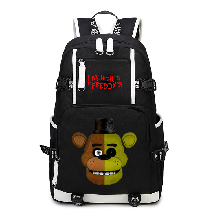 2017 New Five Nights at Freddy's Backpack School Bags Bookbag 17 High quality Women Men Anime Laptop Leisure Shoulder Bag Gift men at arms