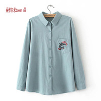 Dower Me Hot Women Plus Size Tops Women Clothing Fashion Blusas Femininas Blouses Shirts Women Embroidery
