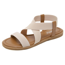UMMEWALO Sandals Women Designer Flat Strappy Sandals