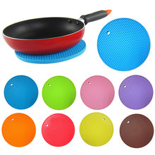 Multifunctional Round Alveolate Non-Slip Heat Resistant Mat Coaster Cushion Place Mat Pot Holder Table Silicone Pad Dura