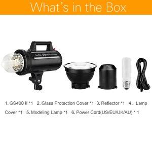Image 2 - Godox GS400II GS400 II 400Ws GN65 profesjonalne Studio Strobe z wbudowanym Godox 2.4G bezprzewodowy X systemu oferuje kreatywny fotografowania