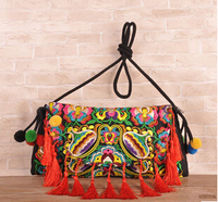 Mix Nice Embroidery Bags Hot Women S Embroidered Tassels Bag Embroidery One Shoulder Cross Body Women