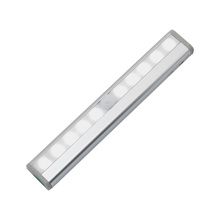 1 x kryty LED oświetlenie w szafie 10 leds czujnik ruchu szafy ścienne lampy pod szafy oświetlenie do sypialni szafka kuchnia tanie tanio 0875 MOTION 50000 hours ANBLUB 4 x AAA batteries (not included) 3 meter Cool White(5500-7000K) Warm White(2700-3500K)