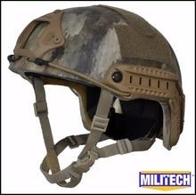 Militech atacs-au camuflaje hp blanco prueba rápida 3a alta corte de kevlar a prueba de balas nij iiia casco rápido ballistic bullet casco a prueba de