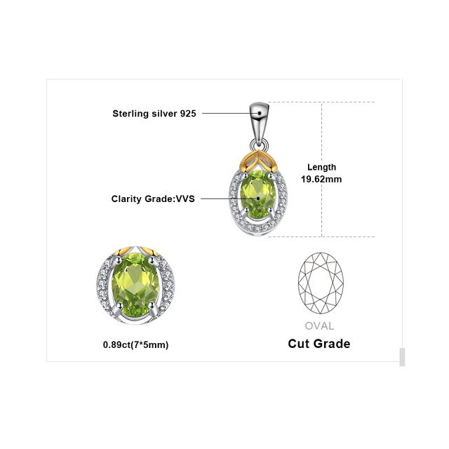 Luxry Genuine Peridot Pendant