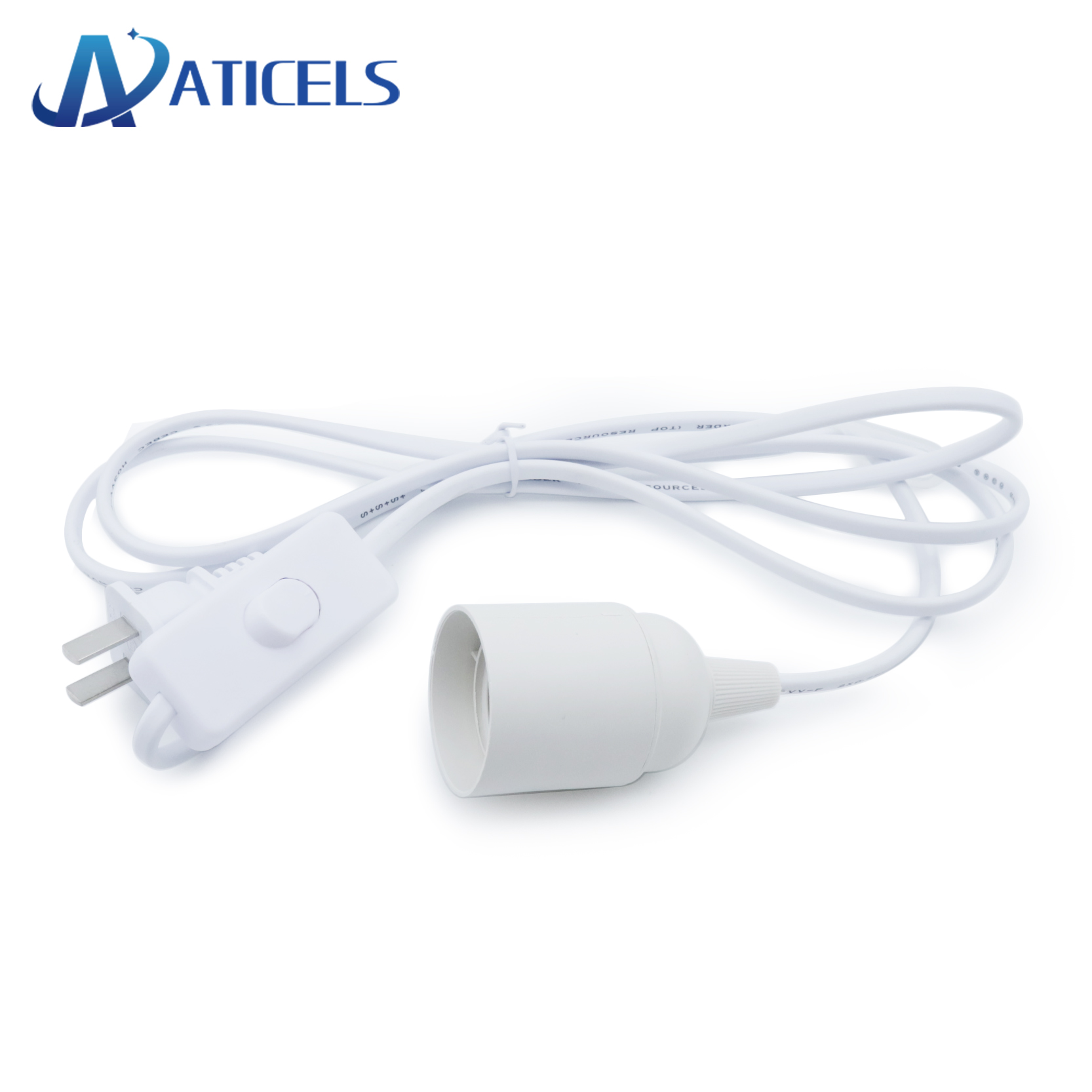 1.8m Power Cord Cable E27 Lamp Base EU Plug With ON/OFF Switch For Pendant LED Bulb E27 Socket Lamp Holder