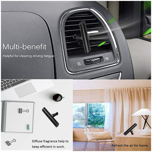 Image 5 - Car Air Freshener Vehicle Vent Clip 5 Scents Diffuser with Refill Bars Solid Air Purifier for Car Home Bathroom Office LG002