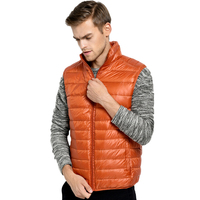 2017 New Ultralight White Duck Down Vest Men Autumn Winter Sleeveless Jackets Male Colete Down Vests