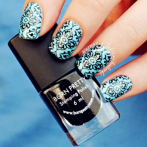 6ml Black Nail Art Stamping Stamp Polish Born Pretty Nail Varnish