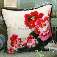 Luxury Peones Quality Sofa Pillow Chinese Style Soft Cushion Big Kaozhen Laciness Lumbar Support Set Pillow
