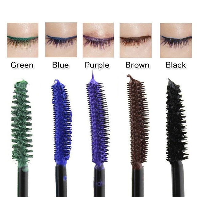91ce33f8b07 2015 hot New Waterproof blue purple black green brown best Color Mascara  charming makeup Free Shipping Long Fiber Mascara jm03-in Mascara from  Beauty ...