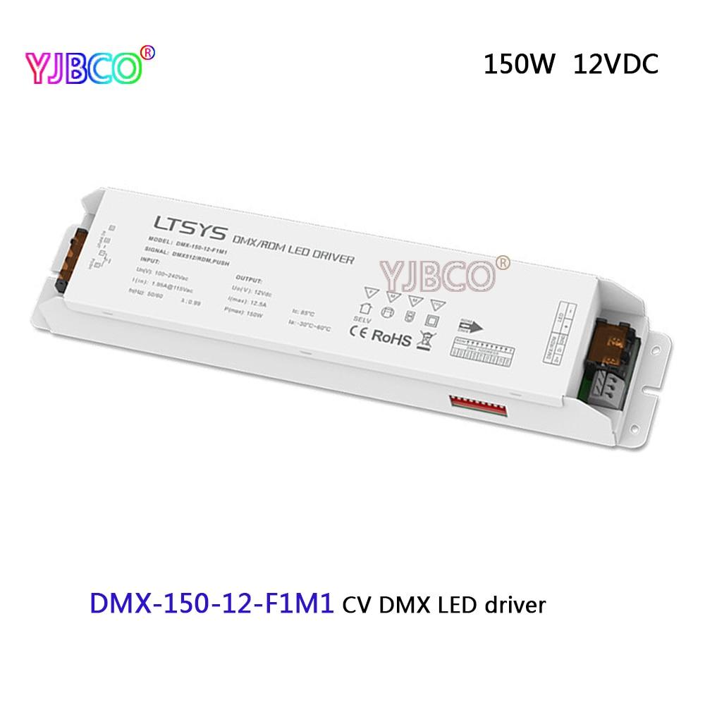 DMX-150-12-F1M1;led dimming intelligent driver;AC100-240V input 12V/12.5A/150W DMX512/RDM output CV DMX LED driver led dimming intelligent driver dmx 75 12 f1m1 ac100 240v input 12v 6 25a 75w dmx512 rdm output cv dmx led driver