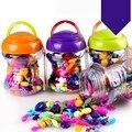 Meninas Brinquedo DIY Contas Jóias Contas Kits Sem Fio-Bright Reutilizável criativo Engraçado e Desgaste Para O Presente Crianças Com Idades Entre 4 e Até