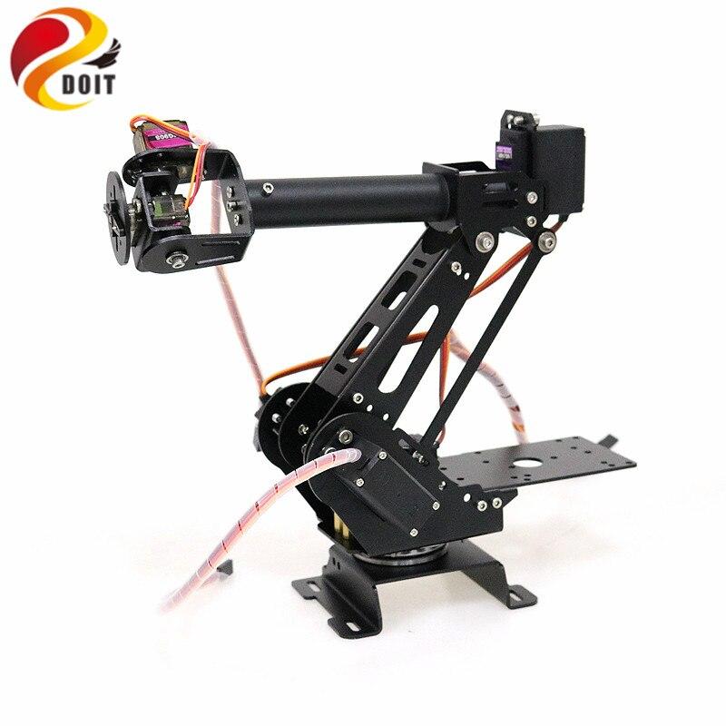 DOIT 6 Dof bras Robot métal manipulateur bras mécanique Structure en alliage d'aluminium pour Arduino bricolage télécommande châssis de réservoir