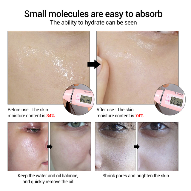ROREC Collagen Shrink Pores Anti-Acne Hyaluronic Acid Moisturizing Face Serum Anti Aging Anti Wrinkle White Rice Skin Care Cream