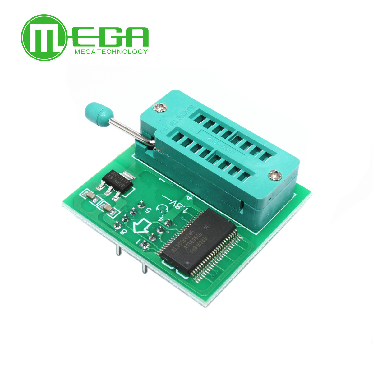<font><b>1.8V</b></font> <font><b>adapter</b></font> for motherboard <font><b>1.8V</b></font> <font><b>SPI</b></font> <font><b>Flash</b></font> SOP8 DIP8 W25 MX25 use on programmers TL866CS TL866A EZP2010 EZP2013 CH341 image