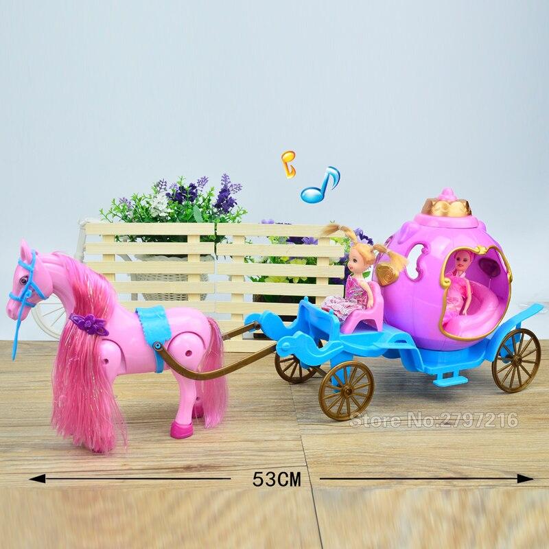 53cm nouvelle fille poupée jouets électrique calèche anniversaires fille cadeaux pour enfants jouets pour enfants - 6