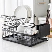 Kitchen Storage Organizer Dish Drainer Drying Rack Metal Sink Holder Tray for Plates Bowl Cup Tableware Shelf Basket mx3151552