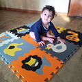 Mei qi fresco 9 unids/set estera del juego del bebé del rompecabezas de espuma EVA mat/cojín de espuma EVA Dibujos Animados/Enclavamiento Tapetes para kids30X30cm 1 cm de espesor