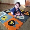 Mei qi legal 9 pçs/set jogar baby mat puzzle de espuma EVA mat/almofada de espuma de EVA Dos Desenhos Animados/Esteiras de Bloqueio para kids30X30cm 1 cm grosso