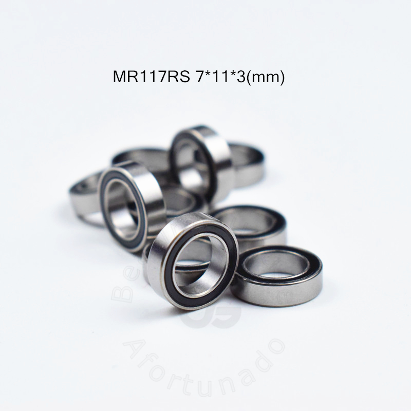 MR117RS 7*11*3(mm) Free Shipping Bearing ABEC-5 Rubber Sealed Miniature Mini Bearing MR117 MR117RS Chrome Steel Bearing