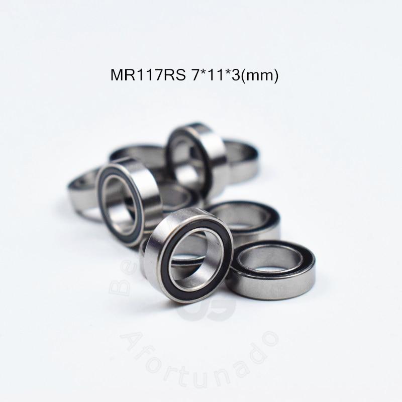 MR117RS 7*11*3(mm) Free Shipping Bearing ABEC-5 Rubber Sealed Miniature Mini Bearing MR117 MR117RS Chrome Steel Bearing