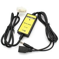 5+7Pin USB AUX Mp3 Player Adapter Car Digital Music Cd Changer Adapter for Toyota (5+7)Pin Camry Corolla Lexus RAV4 Yaris