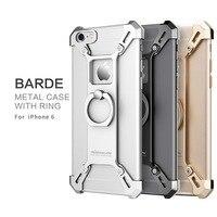 Model NILLKIN niesamowite Żelaza Rydwany Barde Metalowa obudowa z ring finger dla Iphone 6 6 plus 6 s 6 s Plus Wysokiej Jakości Powrót pokrywa