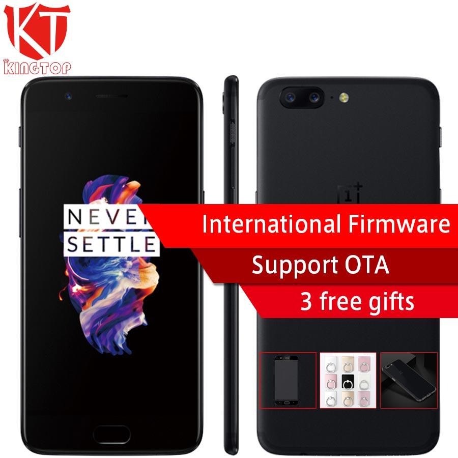 Оригинальный OnePlus 5 мобильный телефон 5,5 8 ГБ Оперативная память 128 ГБ Встроенная память Snapdragon 835 Octa Core Dual сзади 20MP 3300 мАч NFC 4 г Fingerprit телефон