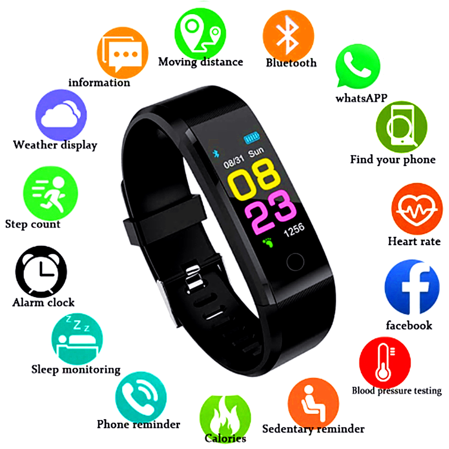 OUTMIX Smart Watch Men Women Heart Rate Monitor Blood Pressure Fitness Tracker Smartwatch Sport Watch For Ios Android