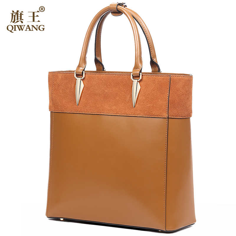 10f657d4e19c ... Leather Suede Bags for Women Genuine Leather Bag Elegant Handbag  England Brand Tote Bag Brown Napa ...