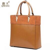 Leather Suede Bags for Women Genuine Leather Bag Elegant Handbag England Brand Tote Bag Brown Napa Purse