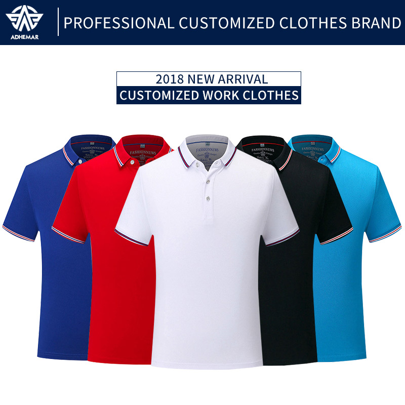 купить Adhemar short sleeved tennis shirts slim quick dry clothes athleisure polo shirt for outdoor sports по цене 758.71 рублей