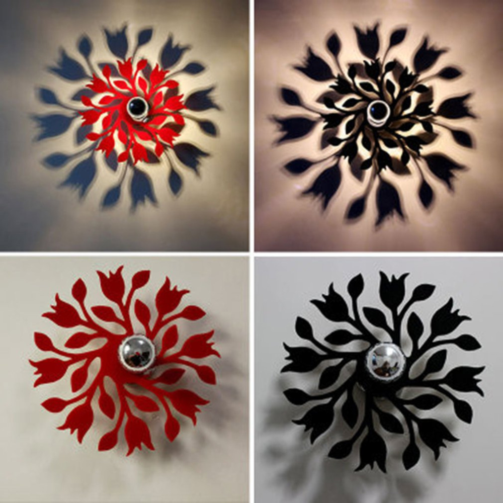 Chambre D Hotel Deco modern design flower shadow lamp ceiling light for bedrooom